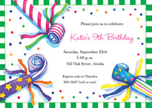 Party Blowers Invitations