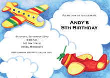 Airplane In The Cloud Invitations