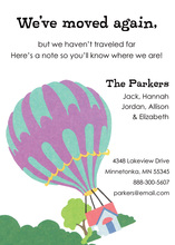 Balloon Move Invitations