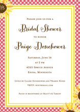Sunflower Oilcloth Bridal Shower Invitations