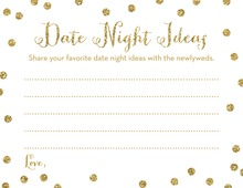 Gold Glitter Graphic Dots Date Night Idea Cards