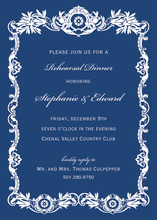 Luxury Royal Frame Navy Luxury Invitations
