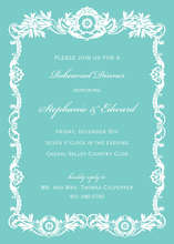 Luxury Royal Frame Aqua Luxury Invitations