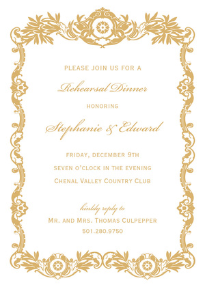 Ballet Pink Luxury Royal Frame Invitations