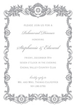 Luxurious Silver Grey Royal Frame Invitations