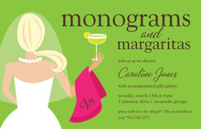 Monograms Margaritas Classy Cocktail Blonde Invites