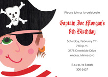 Eye Patch Pirate Invitations