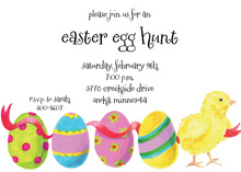 Easter Egg Invitations
