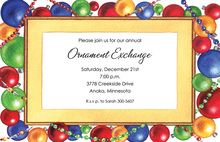 Ornament Border Invitations
