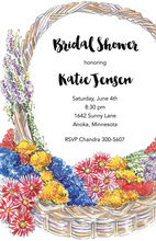 Watercolor Bridal Bouquet Invitations