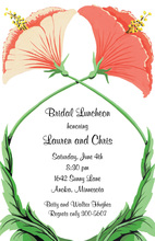 Two Flowers Together Invitations