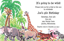 Wild Jungle Animals Invitations