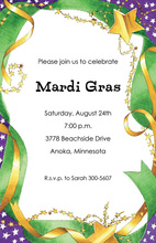 Mardi Gras Ribbons Invitation