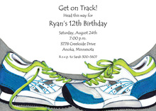 Track Star Invitations