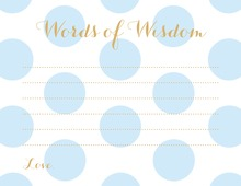 Light Blue Polka Dots Advice Cards