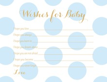 Light Blue Polka Dots Baby Wishes