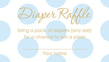 Light Blue Polka Dots Raffle Cards