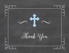 Blue Cross Chalkboard Note Card