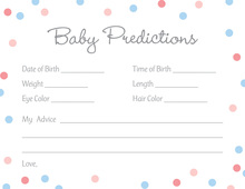 Pink vs Blue Polka Dots Baby Predictions