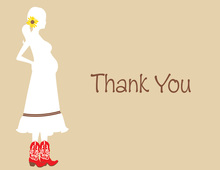 Western Mom With Boots Thank You Cards