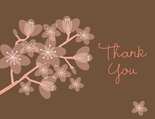 Beautiful Bridal Pink Posies Thank You Cards