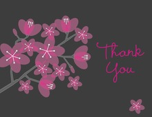 Beautiful Bridal Hot Pink Posies Thank You Cards
