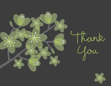 Beautiful Bridal Green Posies Thank You Cards