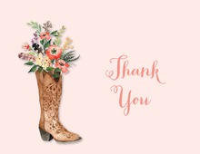 Western Boot Posie Bouquet Pink Bridal Note