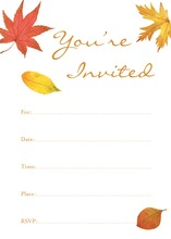 Autumn Leaves Fill-in Invitations