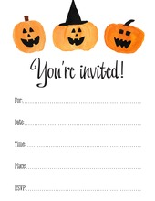 Halloween Party Jack-o-lantern Fill-in Invitations