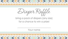 Boho Blue Tribal Patterns Raffle Cards