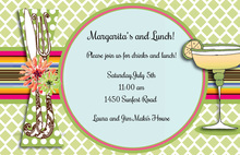 Colorful Fiesta Margarita Table Setting Invitations
