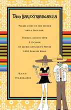 Gold Pattern Fiesta Invitations