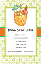 Pineapple Tropical Drink Invitations