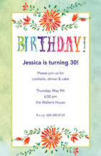 Bohemian Flower Birthday Invitations