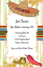 Painted Sombrero Fiesta Invitations