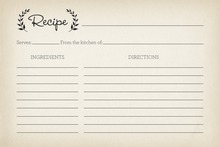 Laurel Leaves Recipe Cards