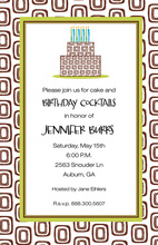 Retro Pattern Layered Cake Invitations