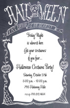Chalkboard Sign Halloween Invitations