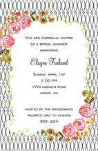 Watercolor Floral Black Painted Pattern Invitations