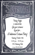 Chalkboard Sign Shindig Invitations