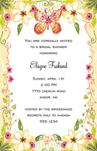 Butterfly Floral Invitations