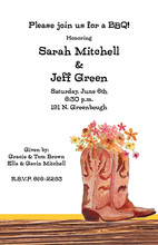 Cowboy Boot Bouquet Wooden Invitations