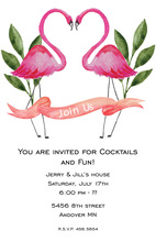 Watercolor Flamingo Lovers Invitations