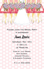 Pink Bridesmaids Invitations
