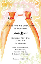 Orange Bridesmaids Invitations