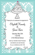 Green Bohemian Floral Flourish Invitations
