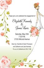 Pink Roses Bride Invitations