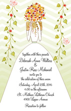 Shy Bride Bouquet Invitations