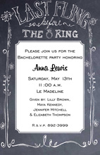 Faux Chalkboard Wedding Sign Invitations